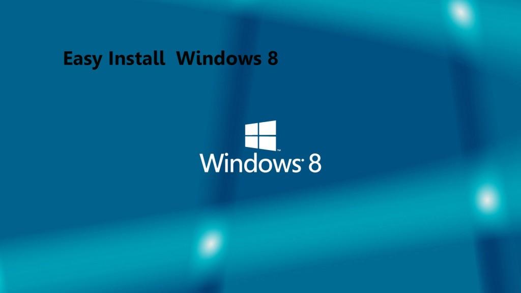 nstall windows 8 from DVD