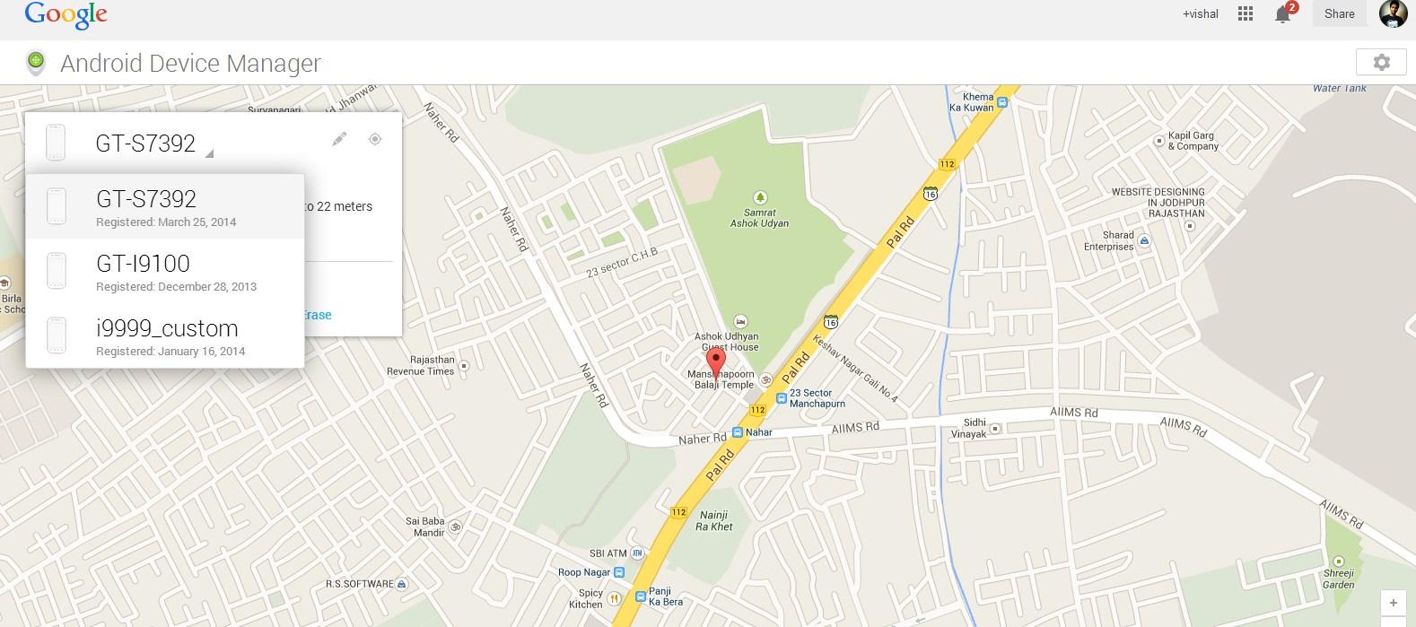 Track-location