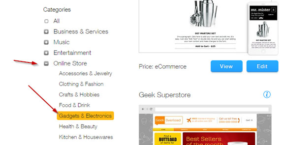 E-commerce Websites With WixStores