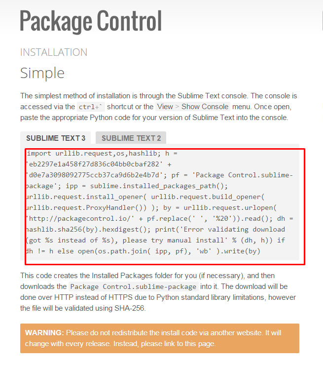 copy package control code