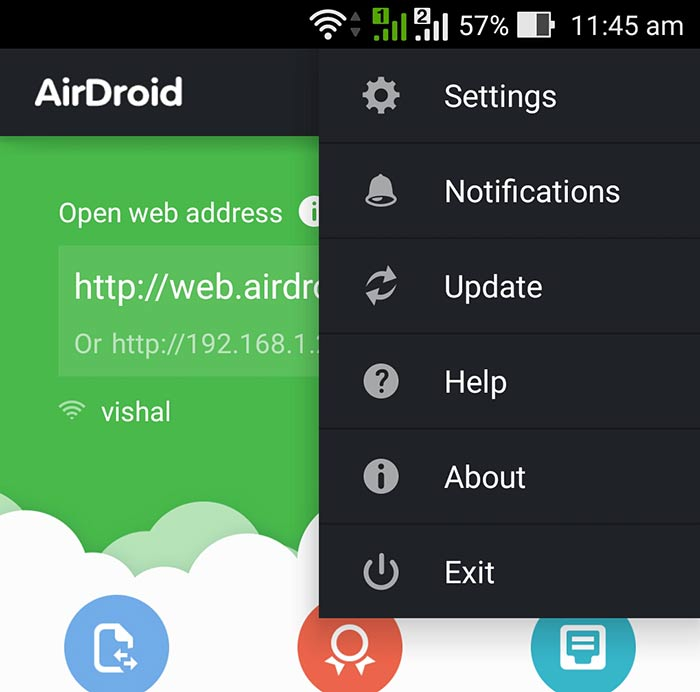 AirDroid Exit From App