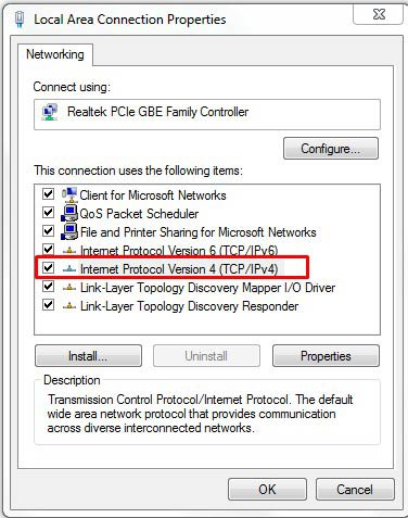 change ipv4 settings