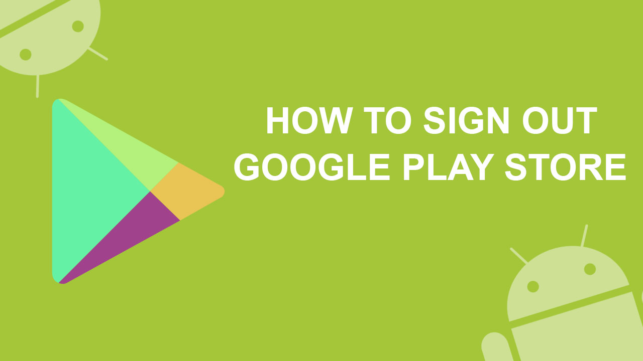 how to logout of google play on tv