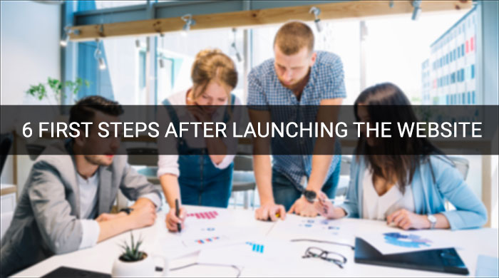 First Steps After Launching The Website