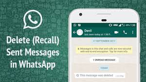 Recall Whatsapp Messages