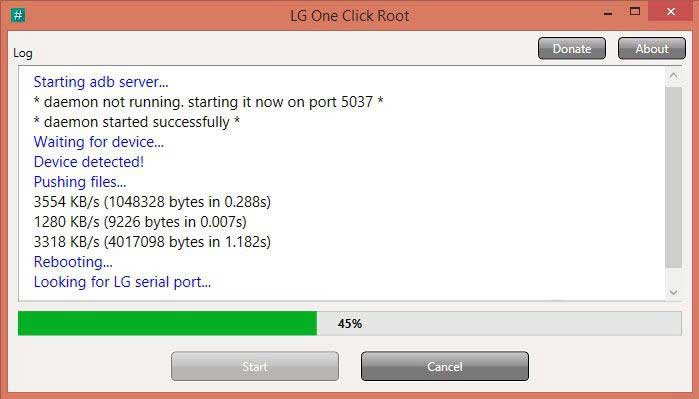 LG one click root finished