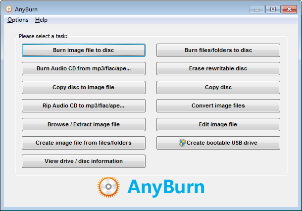 Download AnyBurn for Windows