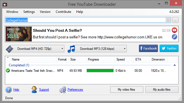 Free Youtube HD Video downloader