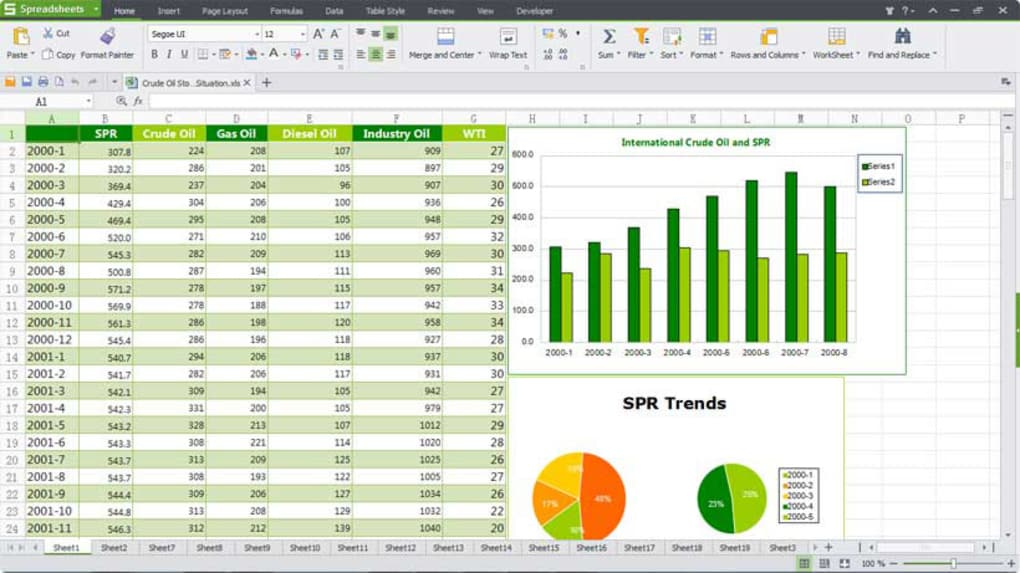 Kingsoft Spreadsheet Download for Windows