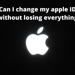 Can I change my apple ID without losing everything